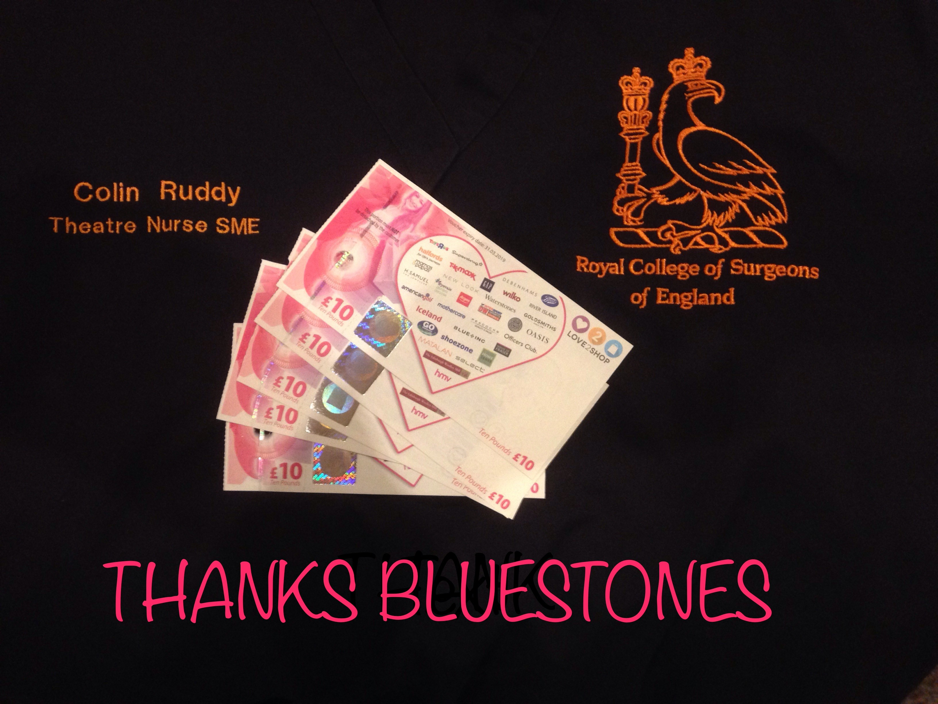 Colin Ruddy Thanks Bluestones