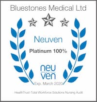 Bluestones Medical Nursing badge 2019