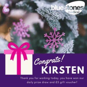 Congratulations to Kirsten