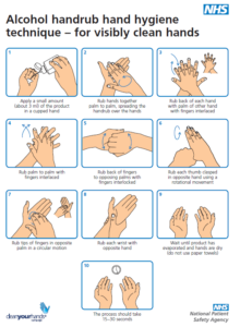NHS hand washing guidelines
