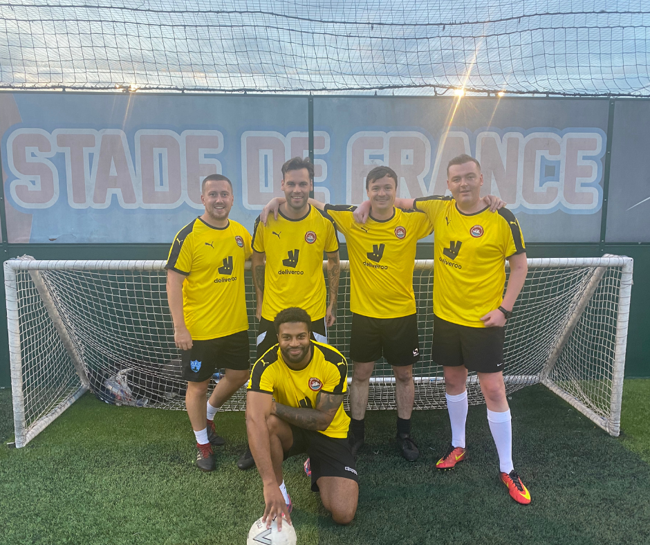 From left to right: Jonathon Smith, Jordan Finlay, Niall Peaker, Liam Jones and kneeling down is Raul Correia